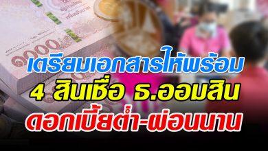 Photo of ออมสิน เตรียมปล่อยสินเชื่อ 4 ประเภท ช่วยคนไทยสู้โควิด 19 ดอกเบี้ยต่ำ-ผ่อนนาน