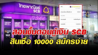 Photo of วิธีสมัครขอสินเชื่อ SCB 10,000 บาท รอรับเงินไปใช้ฉุกเฉินได้เลย
