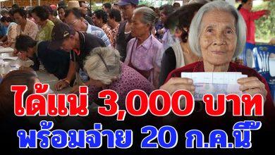Photo of ได้ชัวร์ 3000 บาท เยียวย ากลุ่มเปราะบาง รับเงิน 2 ช่องทาง 20 กรกฎาคมนี้