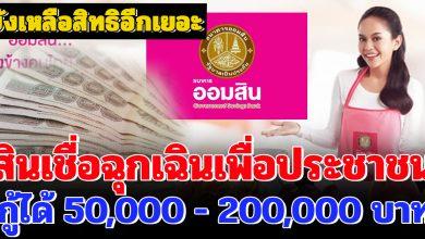 Photo of สินเชื่อฉุกเฉินเพื่อประชาชน ยังเหลือสิทธิ์อีกเยอะ กู้ได้ 50,000-200,000 บาท