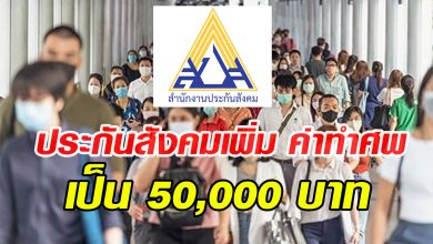Photo of ประกันสังคมใจดี เพิ่ม ค่าทำศพกองทุนประกันสังคม เป็น 50,000 บาท